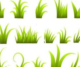 Different Grass Clumps vector