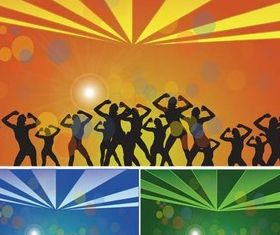 Dance Party free vector material