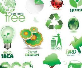 Stylish Eco Logotypes Illustration vector