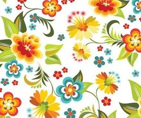 Flower Retro Patterns vector graphic