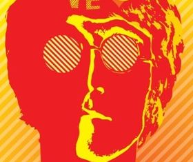 John Lennon vector graphics