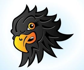 Hawk Head Cartoon vectors material