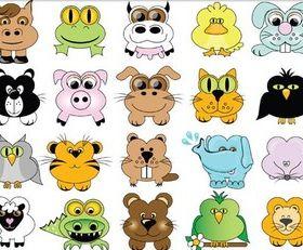 Cute Zoo free vector