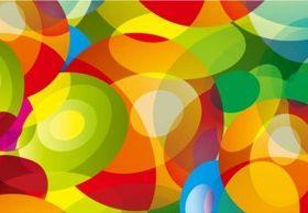 Color fantasy aperture background design vectors