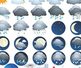 Different Weather Icons Vector shiny