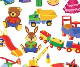 Different Toys Vector design