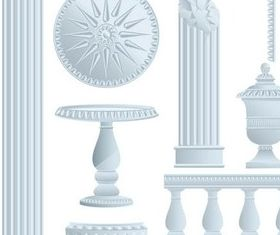 Ancient Architecture Illustration vector
