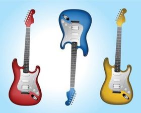 Electric Guitars vector graphics