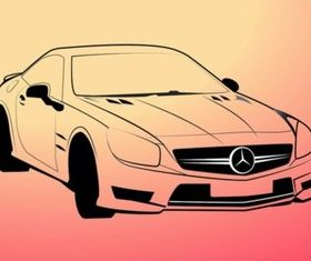 Mercedes Benz Outlines vector set