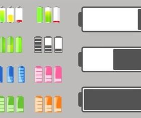 Battery Life Icons vector material
