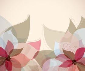Elegant flower decoration background vector