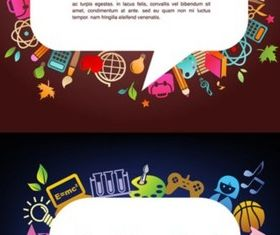 Creative cartoon background vector