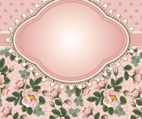 Bright rose background vector