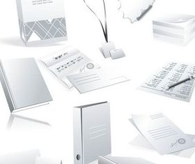 Different Office Things vector