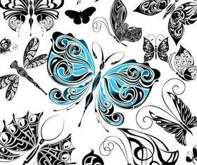Stylish Butterflies Templates vectors graphics