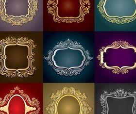 Gold Frame Luxury vectors