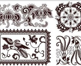 Floral Design Objects vector