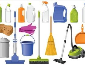 Cleaning Tools graphic vector material