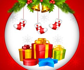 Christmas gift background vectors