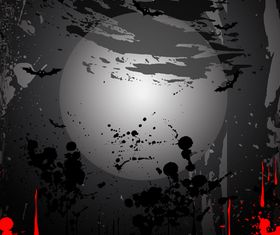halloween background 1 set vector