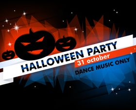 Halloween Party background vectors