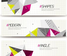 Abstract shapes banner vector