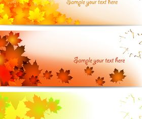 Maple Leaf banner vector graphics