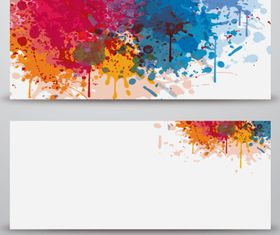 Grunge banner vector material