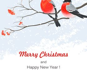 Christmas bird background 1 vector