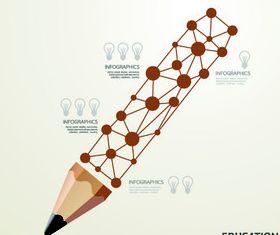 Concept pencil background design vector