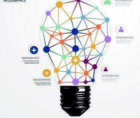 Concept Bulb background vectors graphic