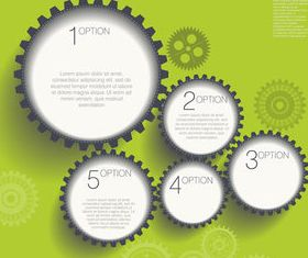 Gearwheel and number background 1 shiny vector