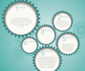 Gearwheel and number background 2 shiny vector