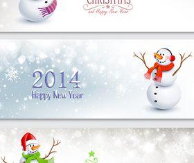 Christmas snowman banner vector