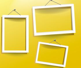 Photo frame background vector