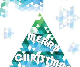 Geometric shapes christmas tree vector material