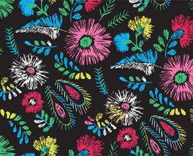 Hand draw flower patterns vector