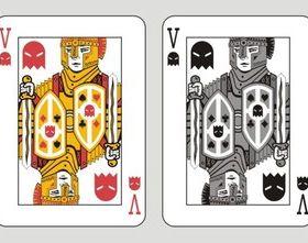 Poker cards design vector