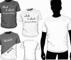 T-shirt set vectors