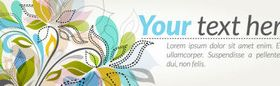 Abstract floral banner vector graphic