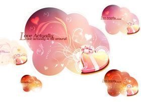 Romantic Valentine heart background 2 vector