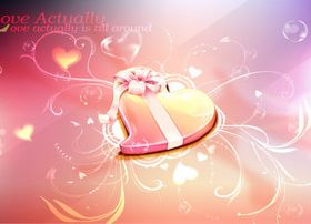 Romantic Valentine heart background 3 vector