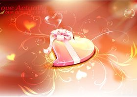 Romantic Valentine heart background 4 vector