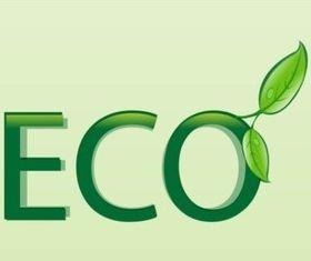 Ecology Text Art vector
