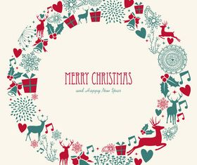 Cute christmas background elements 1 vector