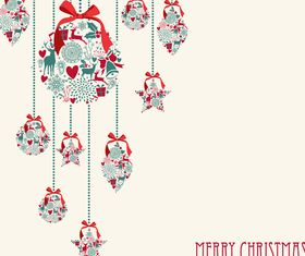 Cute christmas background elements 5 vector