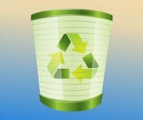 Recycling Bin set vector