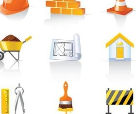 Construction Icons creative vector