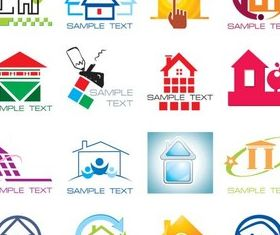 Stylish Houses Logo Vector vector graphics