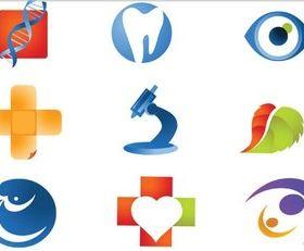Color Medicine Logotypes design vector